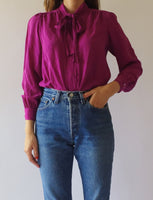 Bow Silk Blouse
