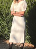 Vintage St. John Cream Knit Dress