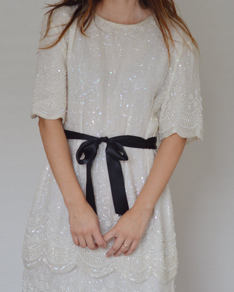 Silk Sequins Dress