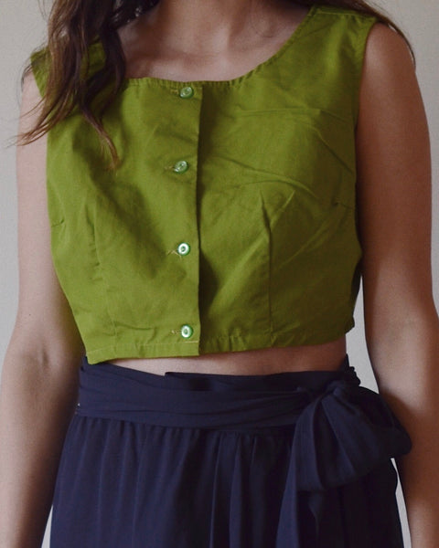 Fine Cotton Crop Top