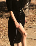 Silk Velvet Black Dress