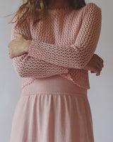 Vintage Crochet Bubble Gum Pink Dress