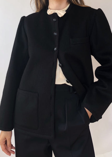 Vintage Yves Saint Laurent Wool Coat