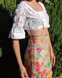Austrian Bell Sleeve Crop Top