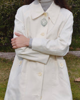 Cream Raincoat