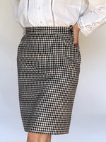 Vintage Yves Saint Laurent Gingham Skirt