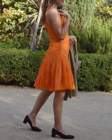 French Micro Pleat Dress