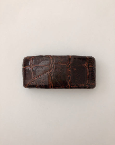 Italian Leather Barrette