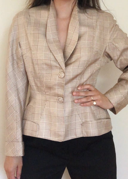Vintage Thierry Mugler Sculptural Silk Jacket