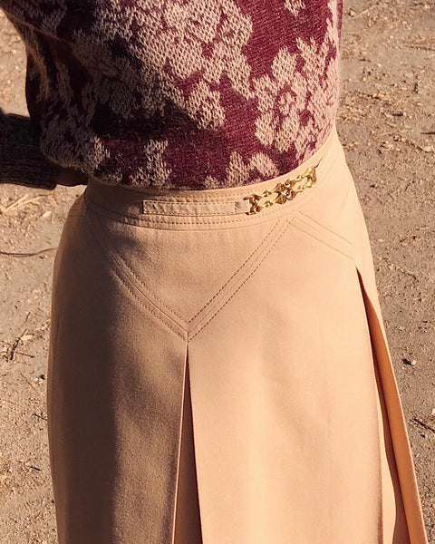 Vintage Celine Wool Skirt