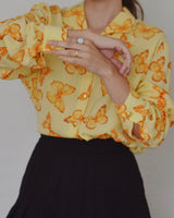 Vintage ESCADA Butterfly Silk Blouse