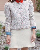 Floral Cotton Quilted Jacket