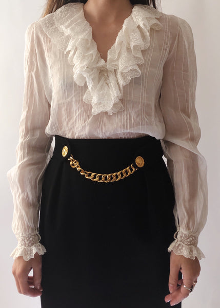 Vintage Celine Gold Chain Skirt