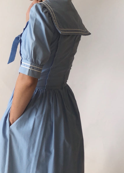 Vintage Laura Ashley Sailor Dress