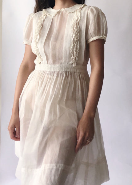 Vintage Organdy Lace Dress