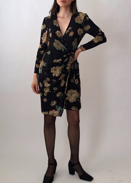Vintage Ungaro Silk Wrap Dress