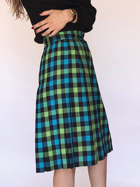 Vintage Escada Wool Checkered Culottes