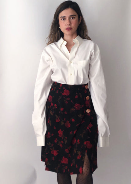 Vintage Yves Saint Laurent Rose Skirt