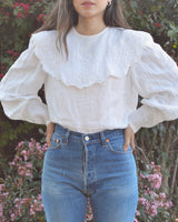 Pretty Collar Balloon Sleeve Blouse