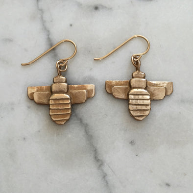 BEE EARRINGS - MIMOSA Handcrafted Jewelry