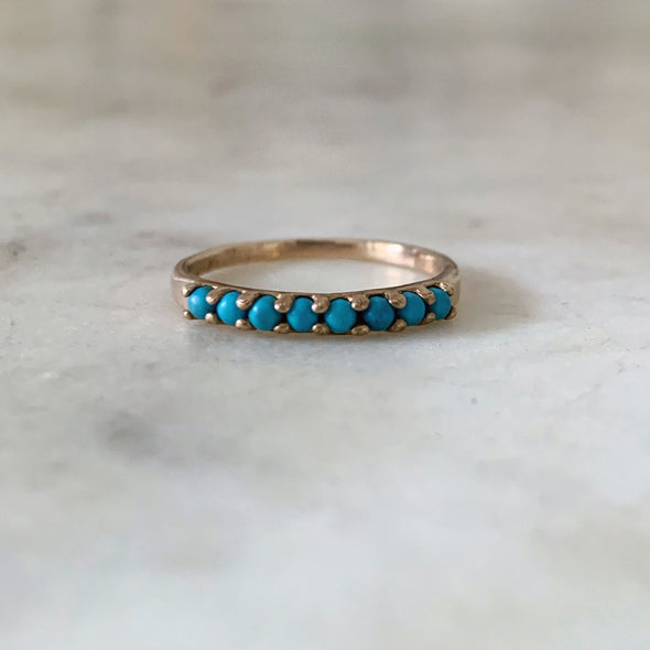 8 STONE TURQUOISE RING - MIMOSA Handcrafted Jewelry