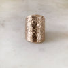 ALLIGATOR SKIN CUFF RING - MIMOSA Handcrafted Jewelry