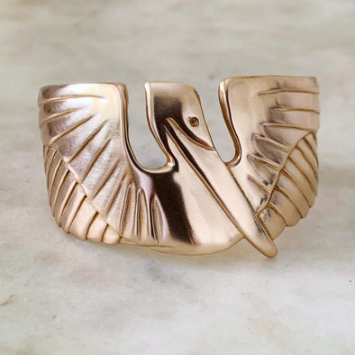 PELICAN CUFF BRACELET - MIMOSA Handcrafted Jewelry