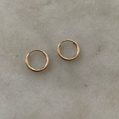 Gold Filled Tiny Hoop Earrings - MIMOSA Handcrafted Jewelry