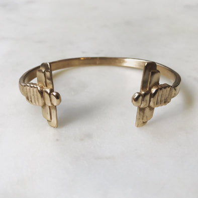 double-bee-bangle-bracelet