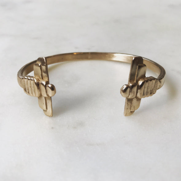 DOUBLE BEE BANGLE - MIMOSA Handcrafted Jewelry