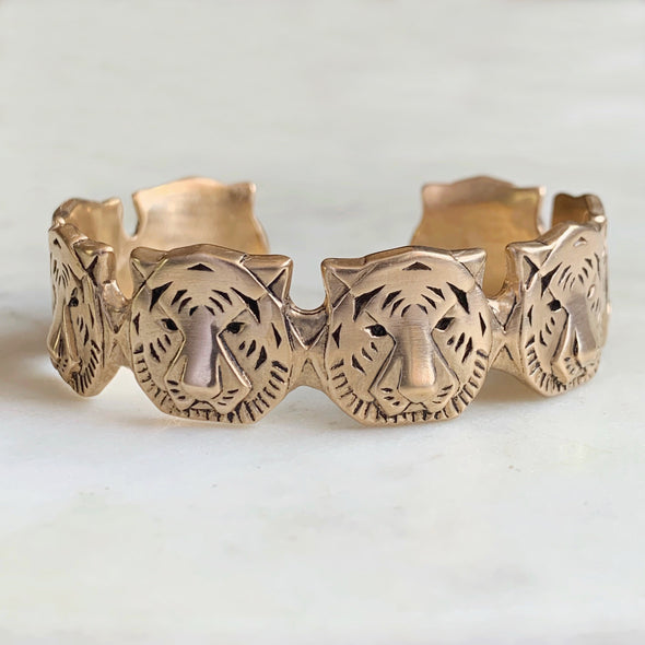 TIGER CUFF BRACELET - MIMOSA Handcrafted Jewelry