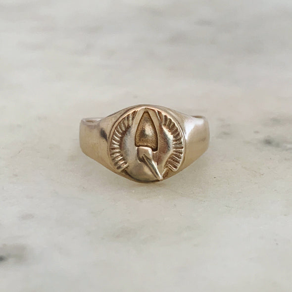 PELICAN SIGNET RING - MIMOSA Handcrafted Jewelry