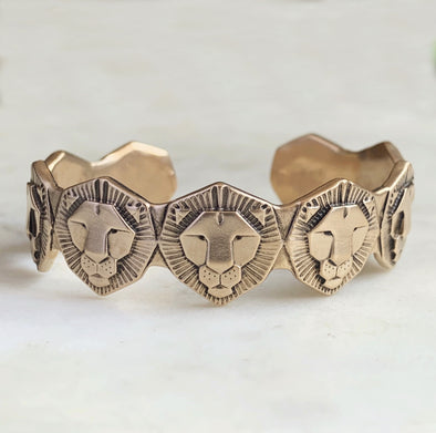 LION CUFF BRACELET - MIMOSA Handcrafted Jewelry