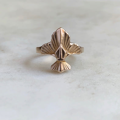 FLEUR DE LIS RING - MIMOSA Handcrafted Jewelry