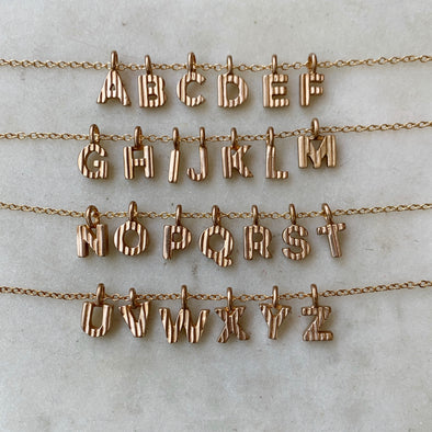 ALPHABET CHARM — PENDANT ONLY - MIMOSA Handcrafted Jewelry