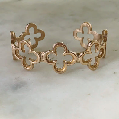 QUATREFOIL BRACELET - MIMOSA Handcrafted Jewelry