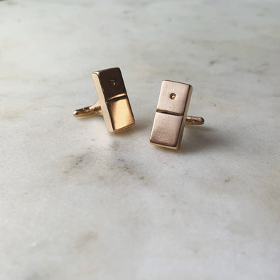 DOMINO CUFFLINKS - MIMOSA Handcrafted Jewelry