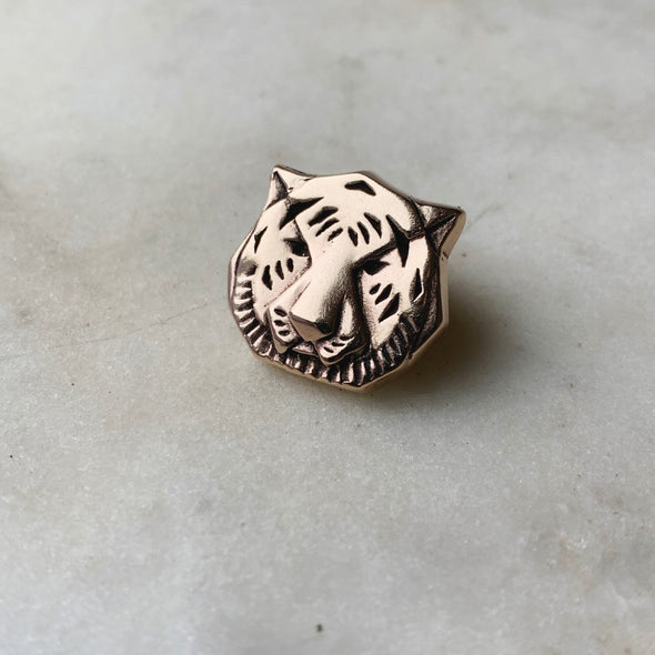 TIGER TIE/LAPEL PIN - MIMOSA Handcrafted Jewelry