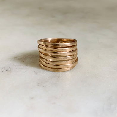 Handmade Bronze Loblolly Pine Needle Ring