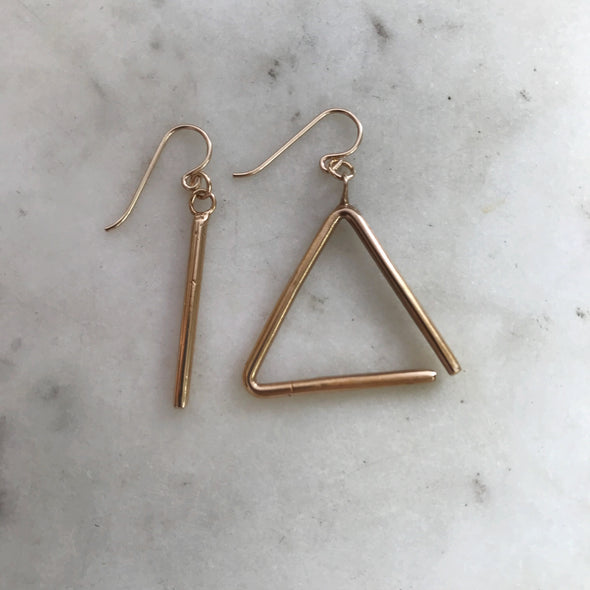 TRIANGLE EARRINGS - MIMOSA Handcrafted Jewelry
