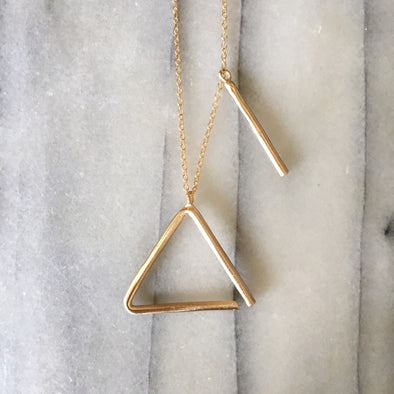 TRIANGLE NECKLACE (tit-fer) - MIMOSA Handcrafted Jewelry