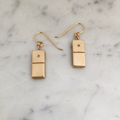 DOMINO EARRINGS - MIMOSA Handcrafted Jewelry