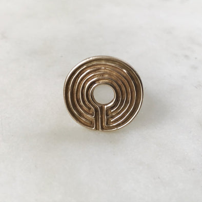 LABYRINTH RING - MIMOSA Handcrafted Jewelry