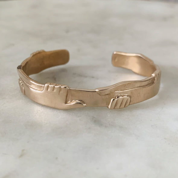 ONE HUMAN FAMILY CUFF - MIMOSA Handcrafted Jewelry