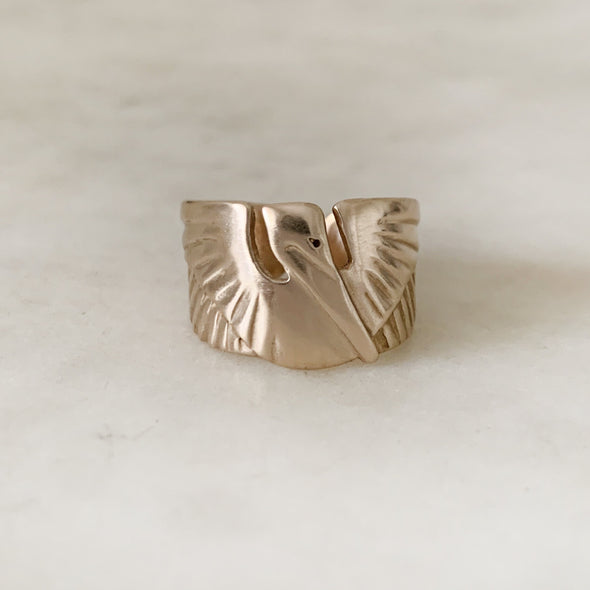 PELICAN RING - MIMOSA Handcrafted Jewelry