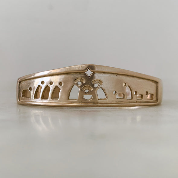 NATIVITY CUFF - MIMOSA Handcrafted Jewelry