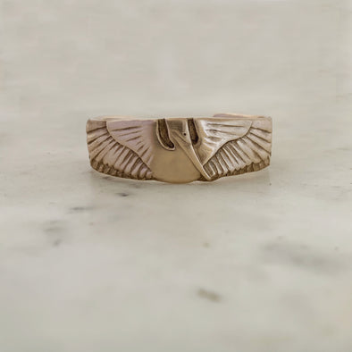 Handmade Bronze Child Sized Pelican Cuff Bracelet