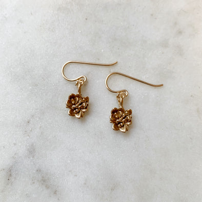 SMALL SUCCULENT EARRINGS