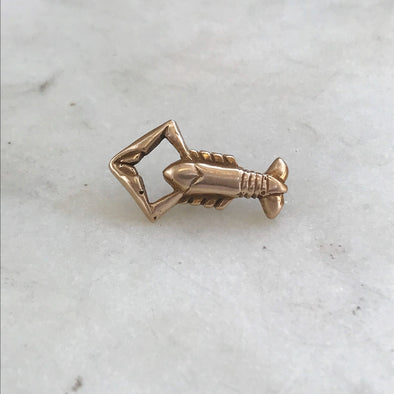 louisiana+crawfish+tie+lapel+pin