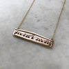 mimosa handcrafted the last supper bar necklace